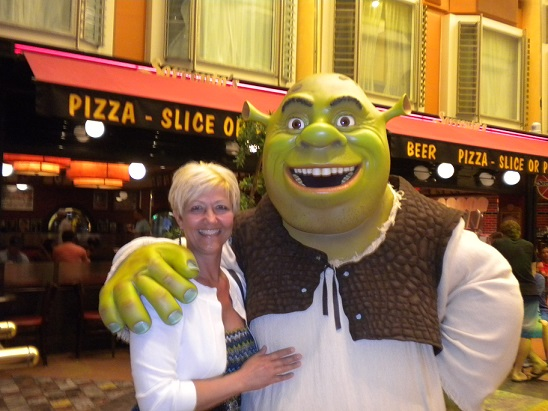 Me and Shrek on our Royal Caribbean Cruise