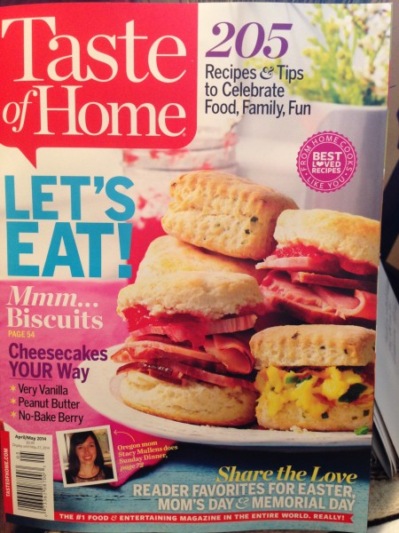 Taste of Home Magazine April/May 2014