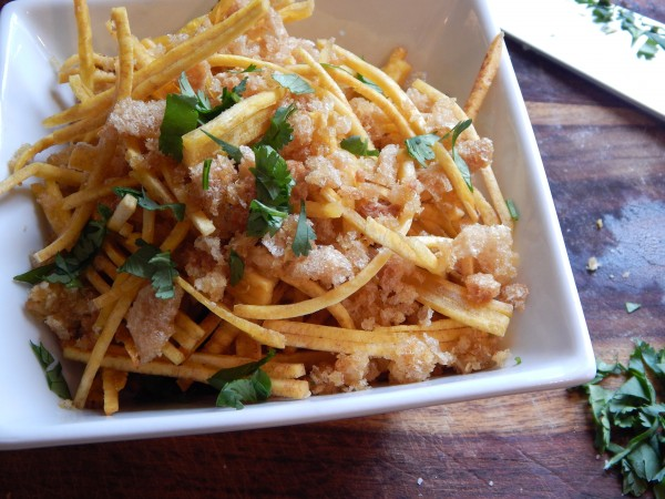 Almost Mofongo Plantain Shoestring Fries