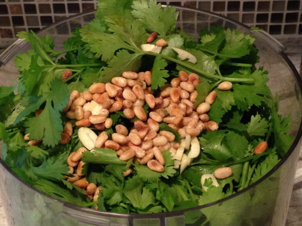 Toasted pine nuts for Cilantro-Lime Pesto, The Prize of Cooking