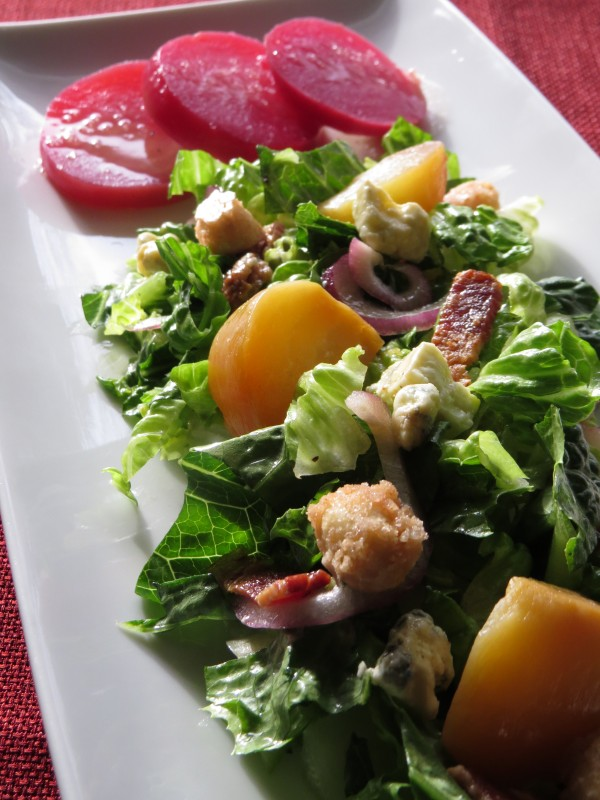Roasted Golden Beet Salad with Candied Macadamia Nuts