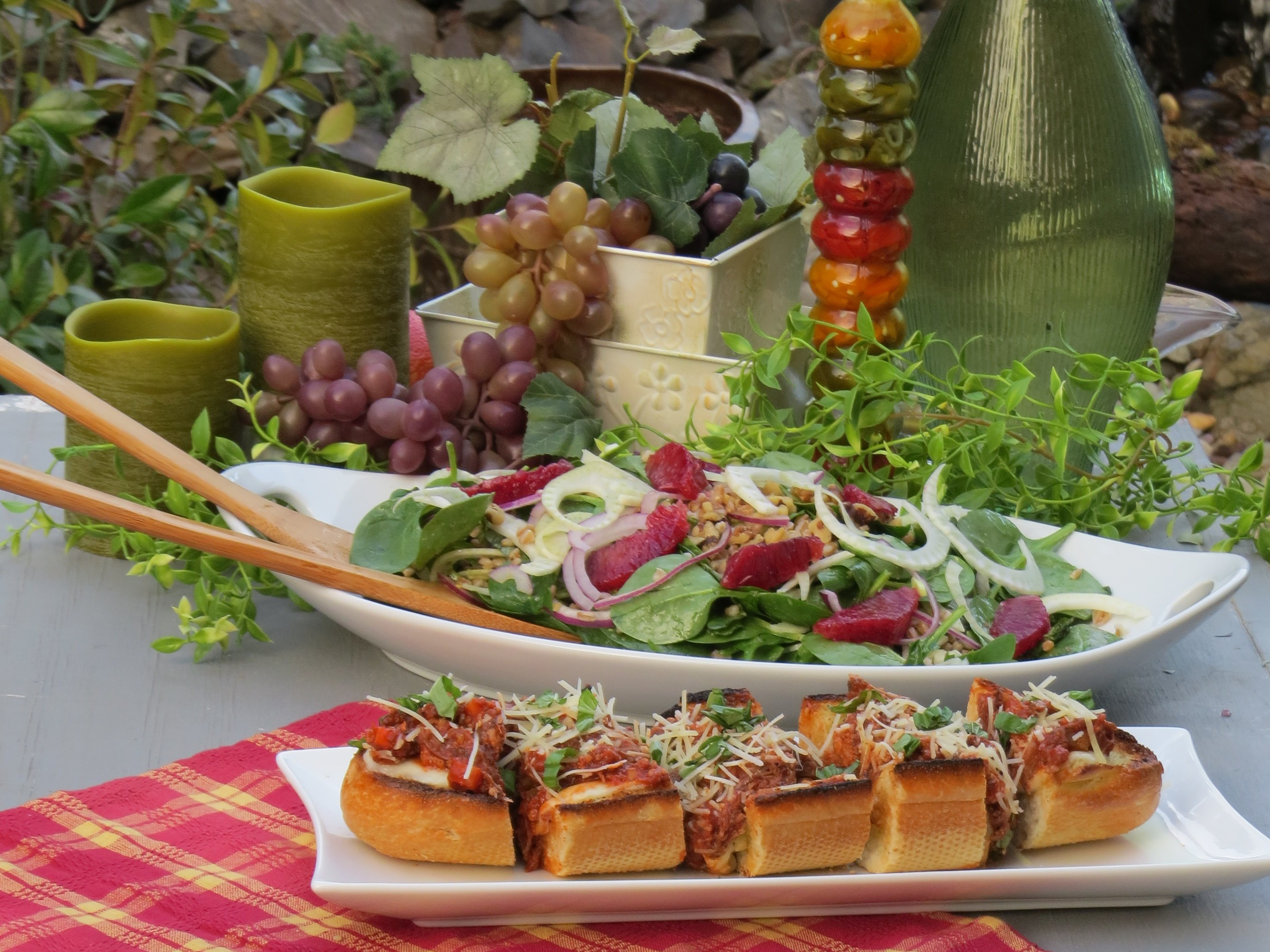 Short Rib Ragu Cheese Bread with Italian Citrus Salad-The Prize of Cooking