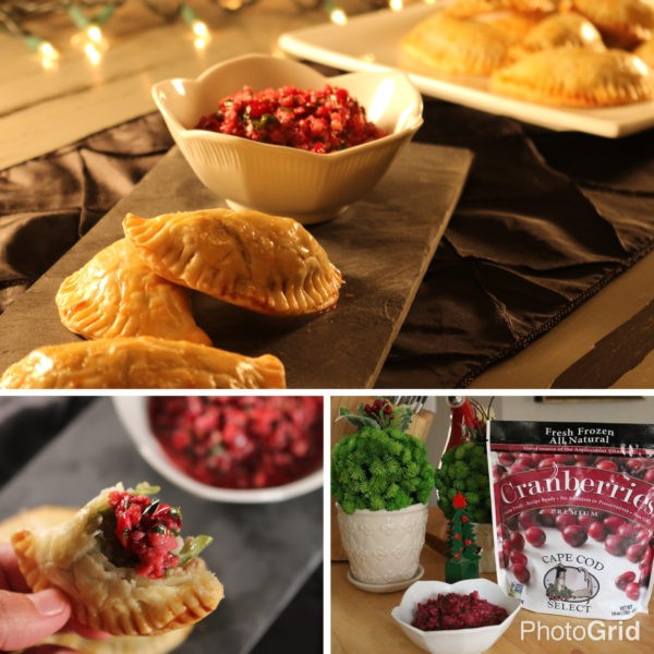 Holiday Turkey Party Pockets with Cranberry Chimichurri