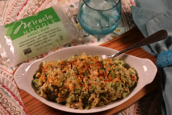Tuna Miracle Noodle and Broccoli Casserole